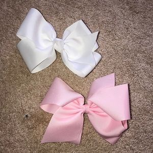 Other - Bows pink and white